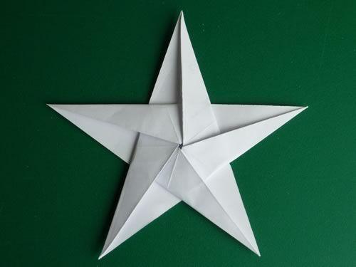 Stella Di Natale A 5 Punte.Folding 5 Pointed Origami Star Christmas Ornaments Lavoretti