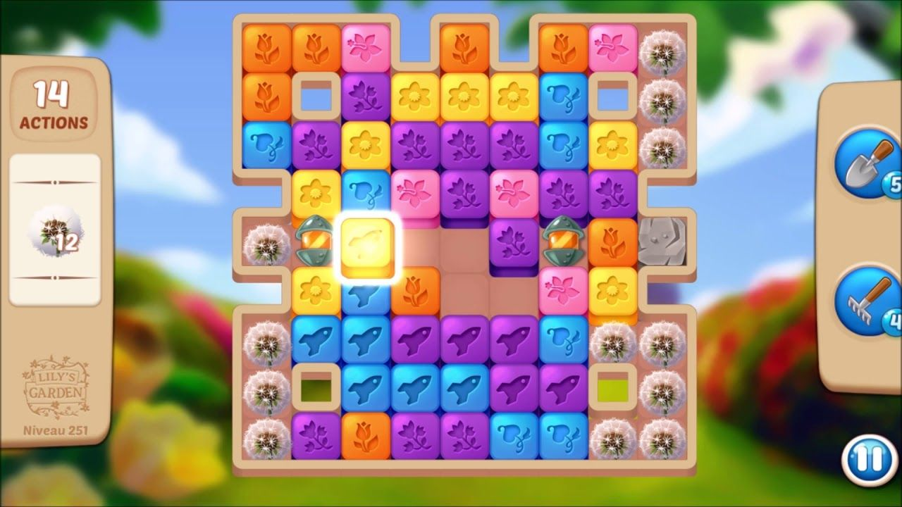 Lily S Garden Level 251 No Boosters Design Puzzle Lily Garden Garden Levels