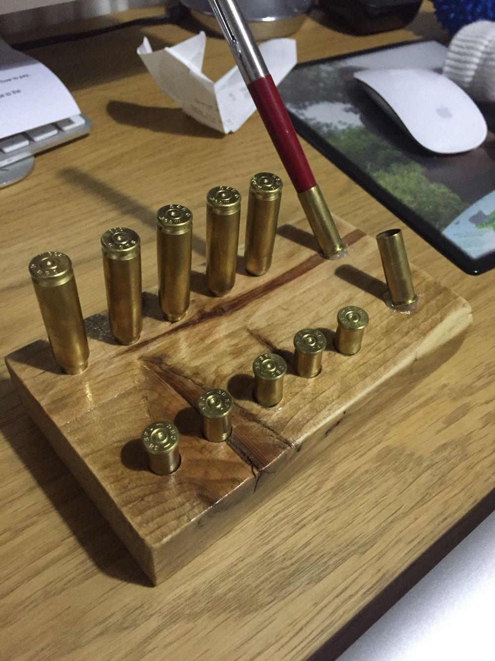 Business card holder bullet bullet casing crafts
