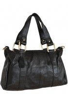 Chantalle Levesque -- Women's Black Leather Simple Design Day Bag $105.95