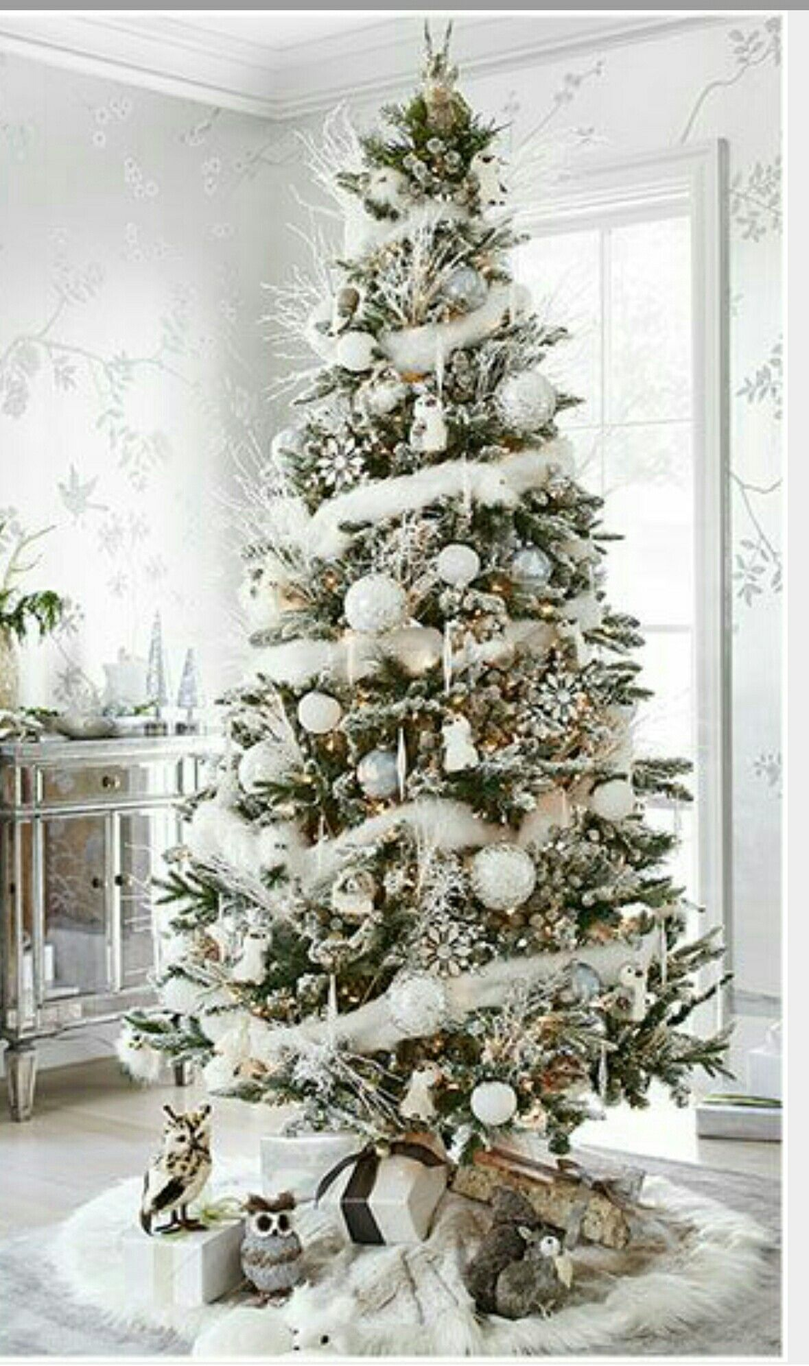 White n Silver Christmas great Pinterest