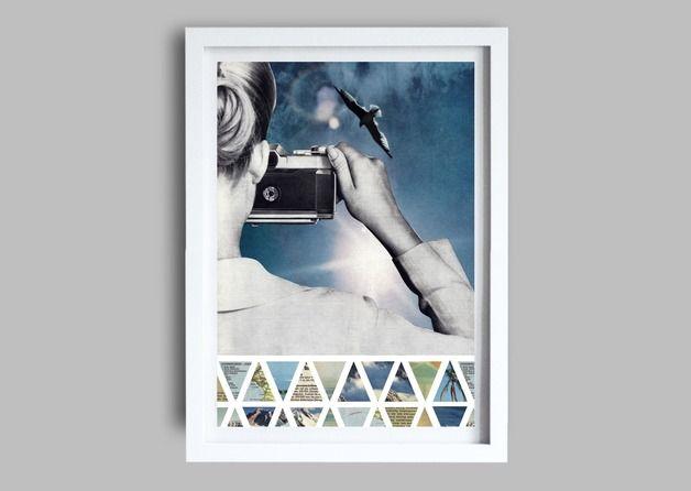 """Digitaldruck - Collage """"Gegenlicht"""" , Fine Art Print - ein Designerstück von janisommer bei DaWanda"""