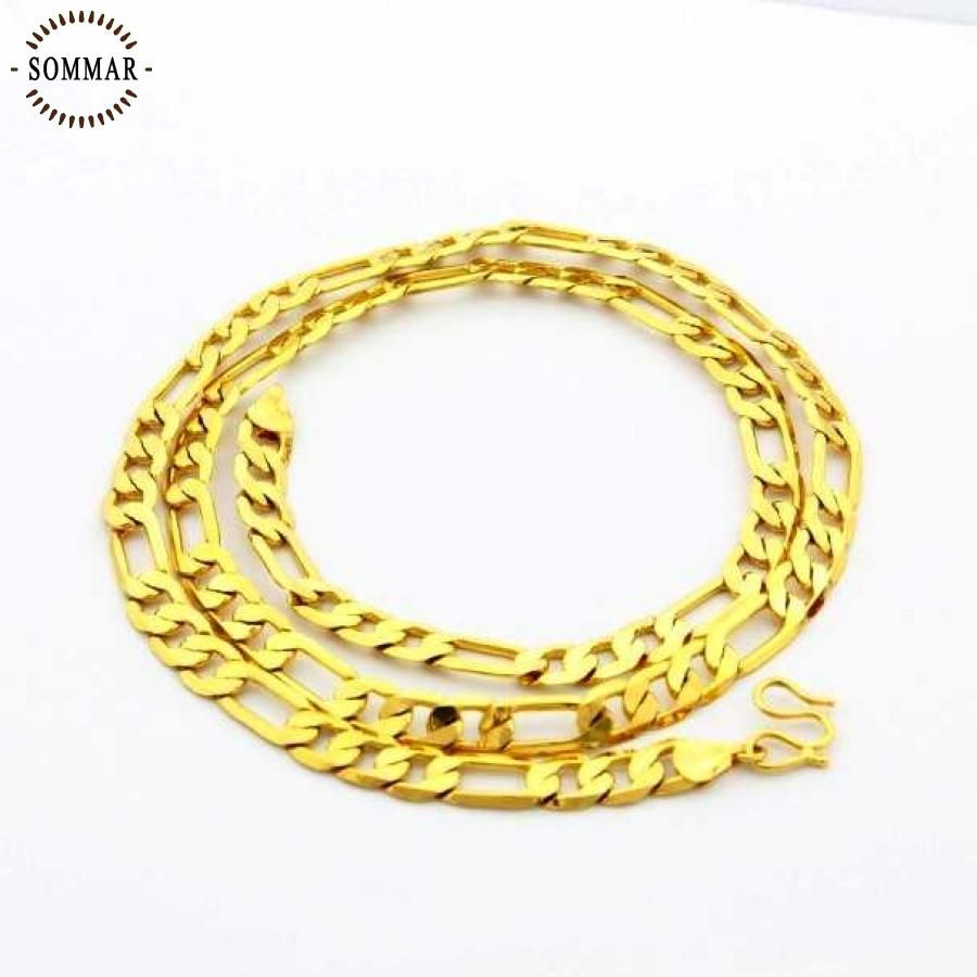High quality k gold color pendant necklace mm cm three one men