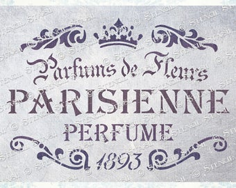 A3 French Vintage Stencil Wall Furniture Decor Template Shabby Chic Paris Craft