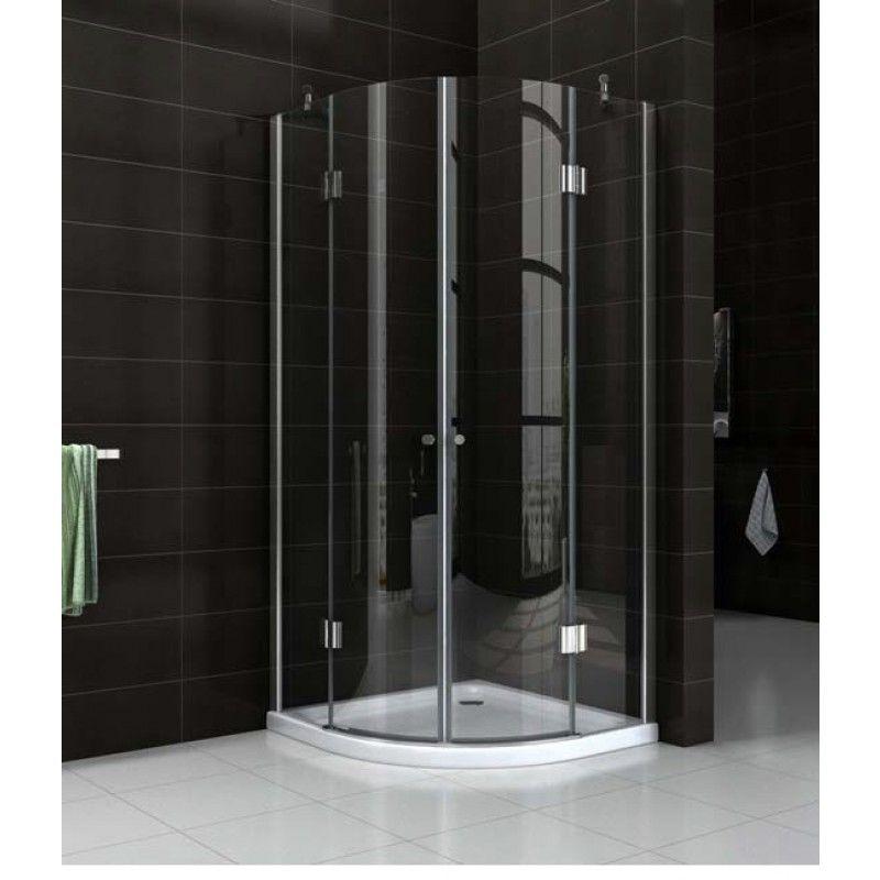 Vida Double Doors: Semi Frameless shower screen with base 8 mm Glass ...