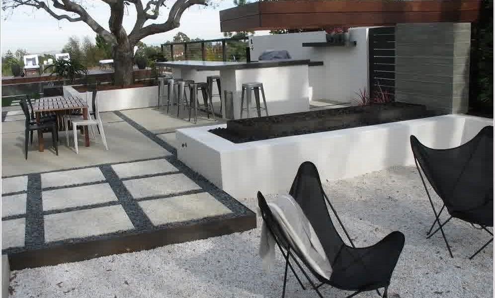Mid Century Modern Concrete Patio