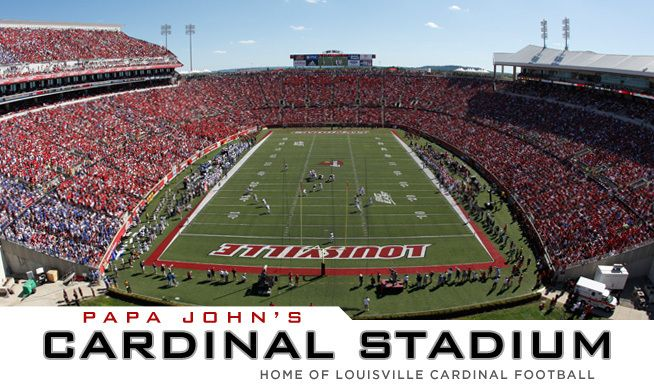 Fans Are Treated To A One Of A Kind Feature In Papa John Cardinal Stadium Pjcs Wi Louisville Cardinals Football University Of Louisville Louisville Cardinals