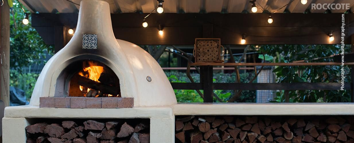 Cooking Delicious, Traditional, Wood Fired Pizza In Your Own Backyard Has  Never Been Easier. The ROCKCOTE Pizza Oven Kit Includes Everything You Need  To ...