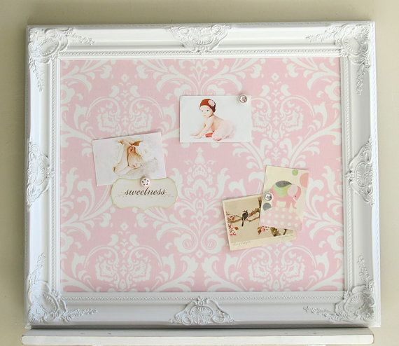 Pink Nursery Decor MAGNETIC BOARD Baby Girl Nursery Wall ...