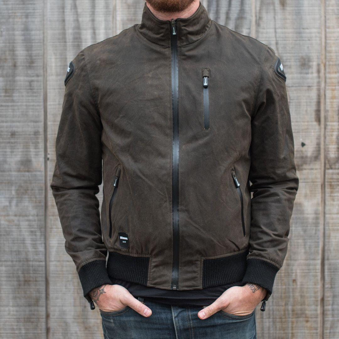 Blauer Indirect Textile Jacket Olive Leather jacket