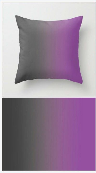 Gray to Purple Ombre Pillow Cover - Throw Pillow Cover - Includes ...
