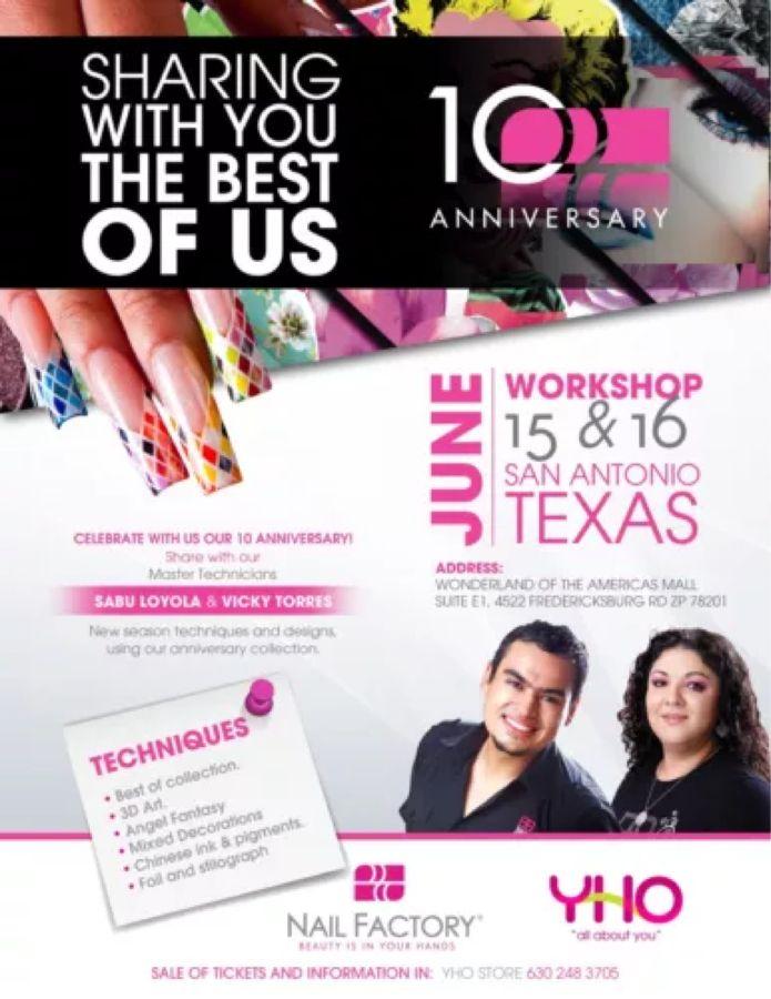 Workshop Nail Factory June 15 16 Workshop San Antonio Texas Celebrities
