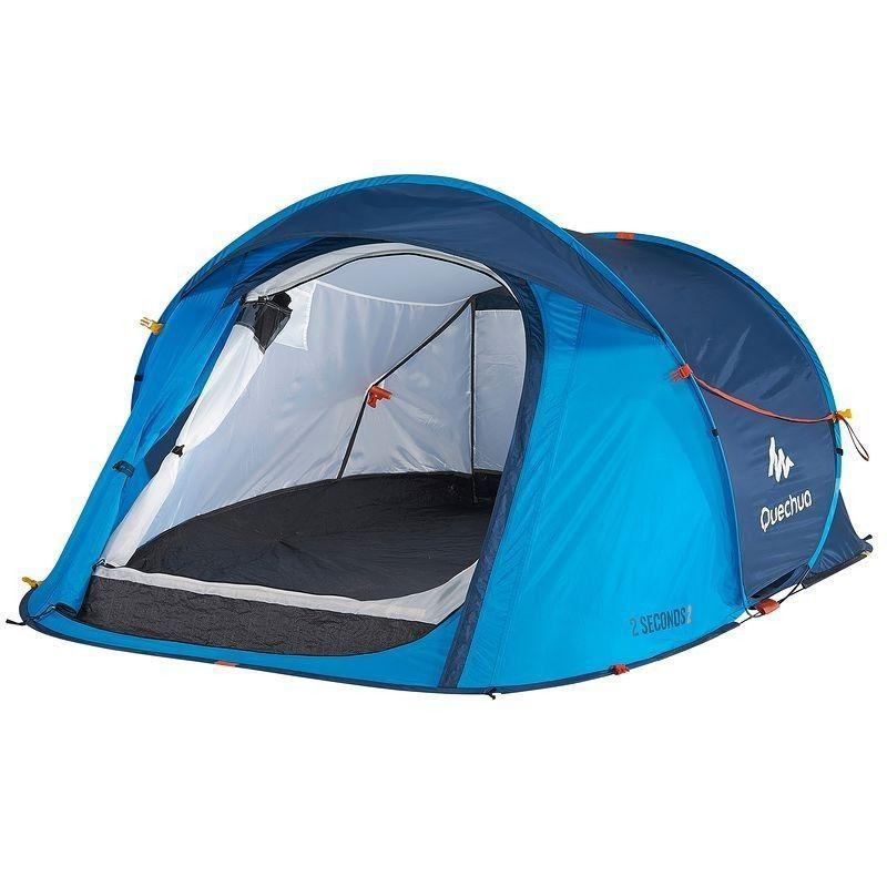 Tente 2 Seconds Easy 2 Bleu 2 Personnes Camping En Tente Camping Tente Camping 2