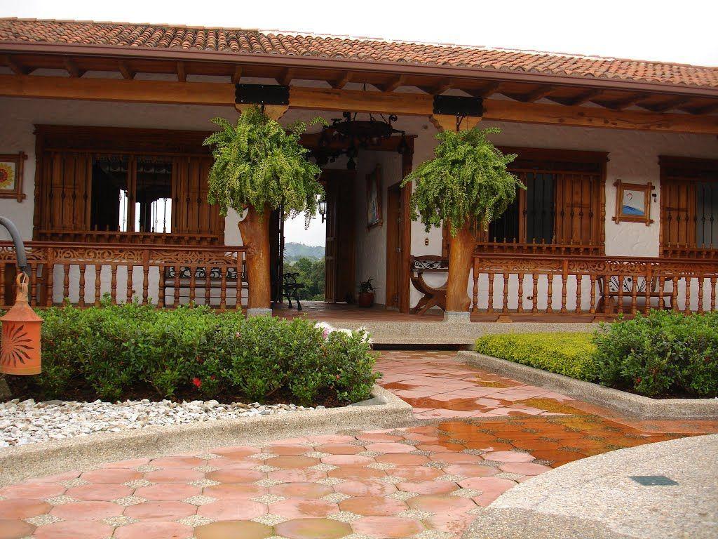 Modelo De Casa Con Corredor Of Corredores Casa De Hacienda Cafetera La Holanda Fachadas Casas De Campo Casas Campestres Casas Haciendas