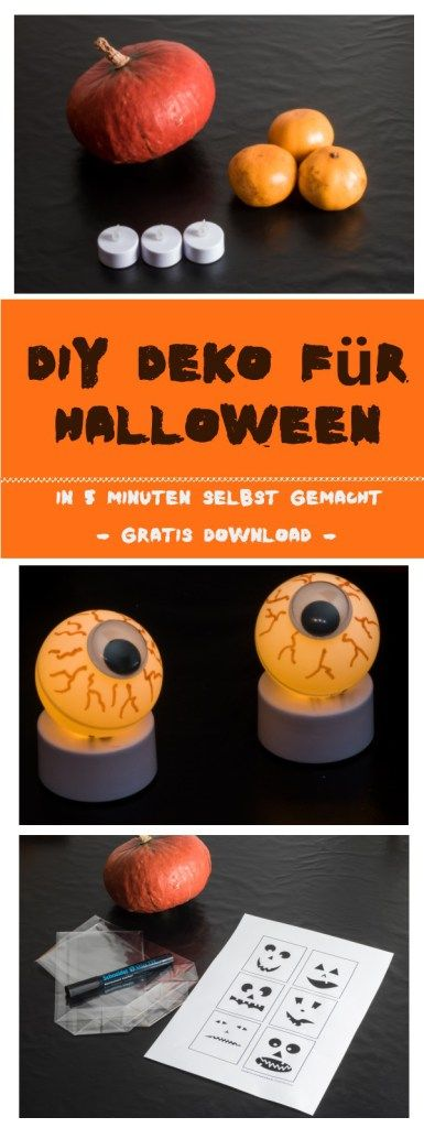 diy deko f r halloween super schnell in 5 minuten selbst gemacht mit dingen die jeder zuhause. Black Bedroom Furniture Sets. Home Design Ideas