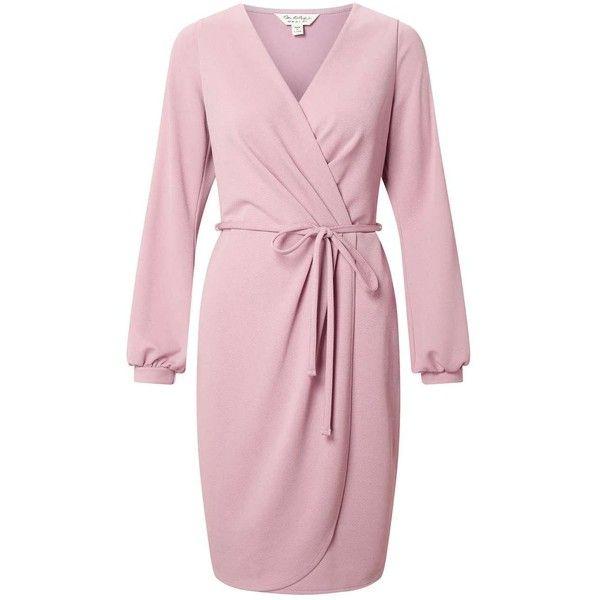 Miss Selfridge Split Sleeve Wrap Dress ($76) ❤ liked on Polyvore ...