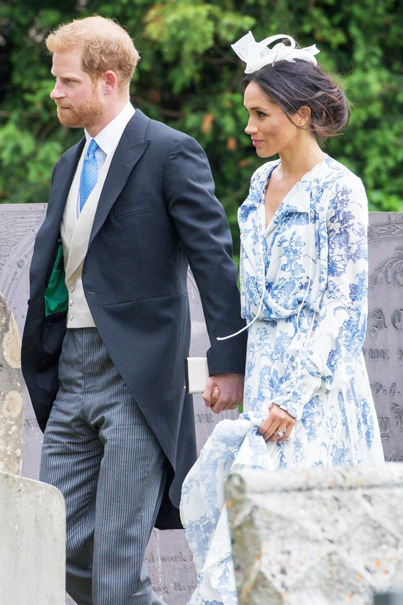 998446adf3a Meghan Markle Just Wore Our Favourite Dress Trend At A Wedding This Weekend   royalstyle