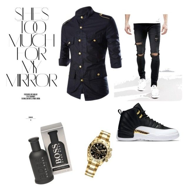 """Im not loser, im just too fabulous for you a**hole"" by lostgirlwithstyle on Polyvore featuring Liquor n Poker, Rolex, Rika, BOSS Hugo Boss, men's fashion and menswear"