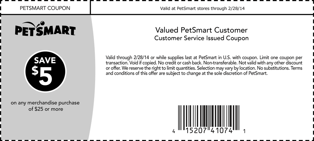 Pinned January 28th 5 off 25 at PetSmart coupon via