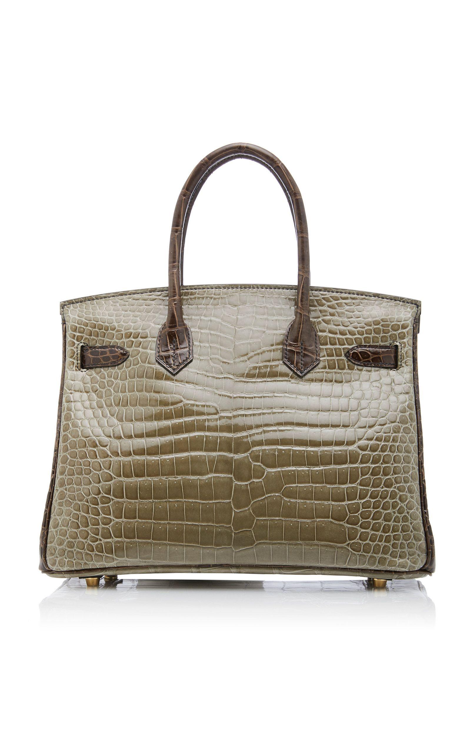 dbba4ccba81f Hermès 30cm Gris Elephant and Gris Tourterelle Crocodile Birkin