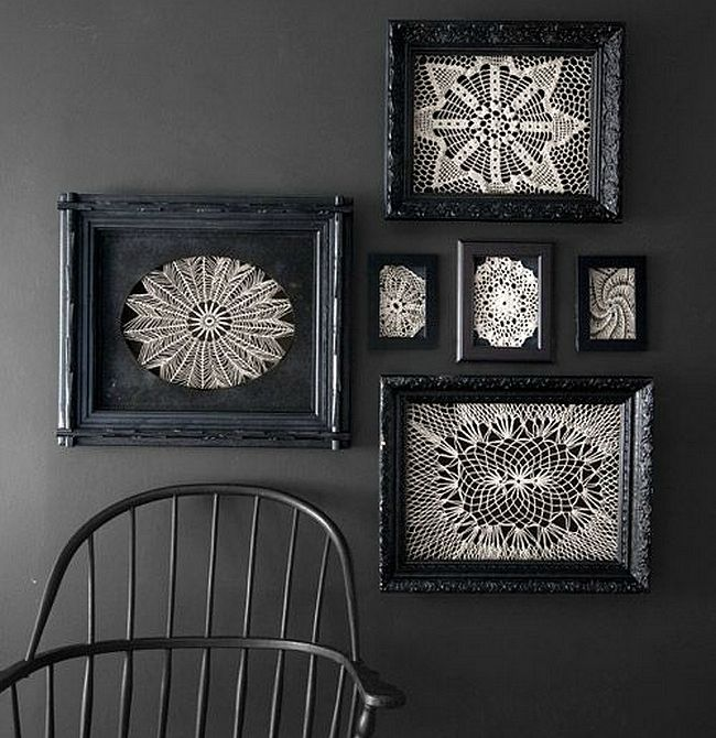 Pin by pia roberge on Doilies Pinterest - creepy halloween decorations homemade