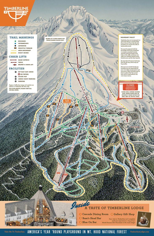 ski bowl trail map mt hood oregon