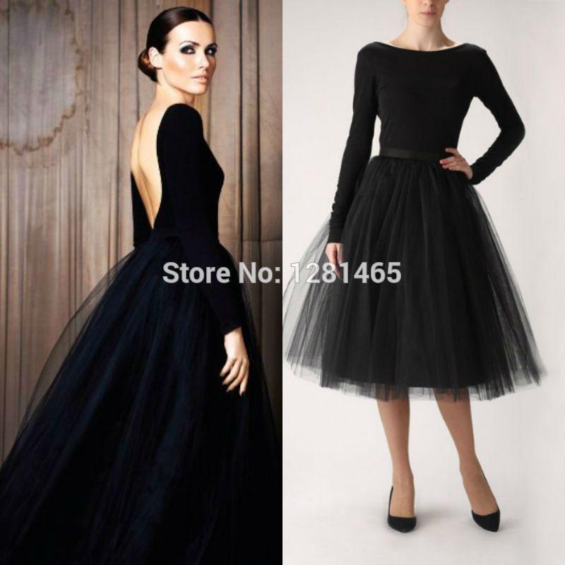 black tea length wedding dress   2015 Elegant Short Black Backless ...
