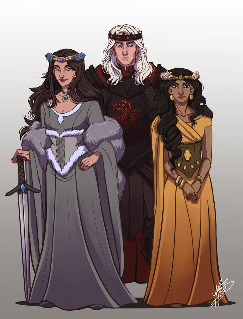 The Lost Emperor: Rhaegar, Elia and Lyanna by naomimakesart (With ...