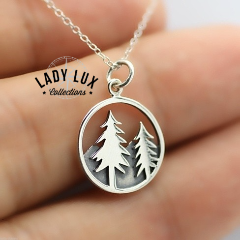 4aee42db9 Authentic Outdoor Pine Tree Necklace - FREE SHIPPING WORLDWIDE * Metal:  Premium Zinc Alloy (non-irritating and environmentally safe) Lead-free and  ...