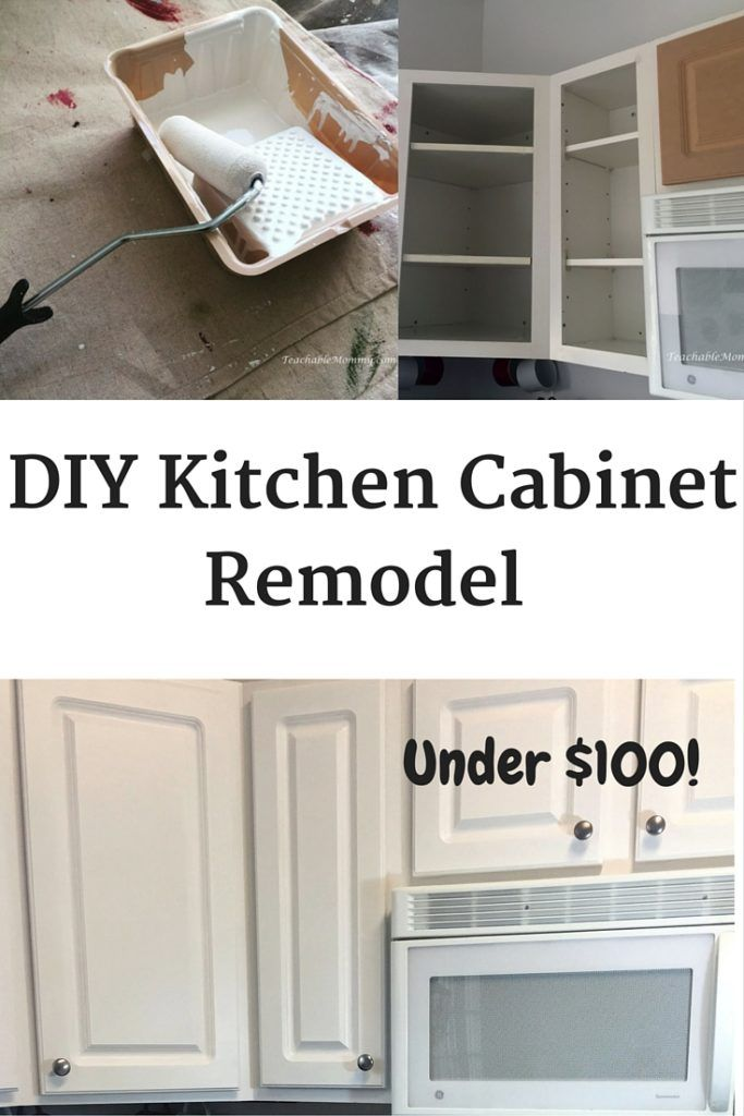 Diy kitchen cabinet remodel cheap kitchen remodel paint for Cheapest way to redo kitchen cabinets