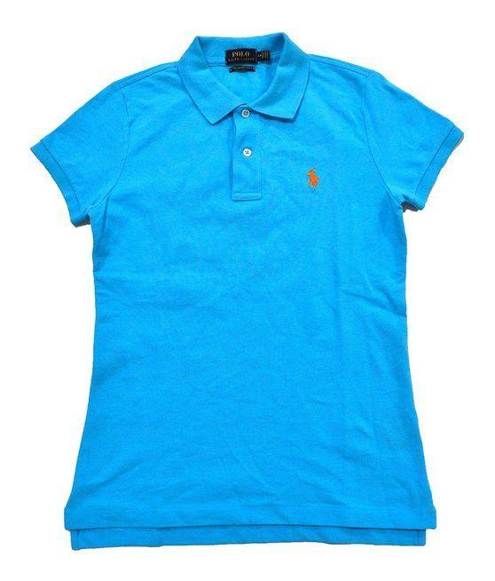 $34.97 - Ralph Lauren Women's Skinny Polo Pony Logo T-Shirt Blue #ralphlauren