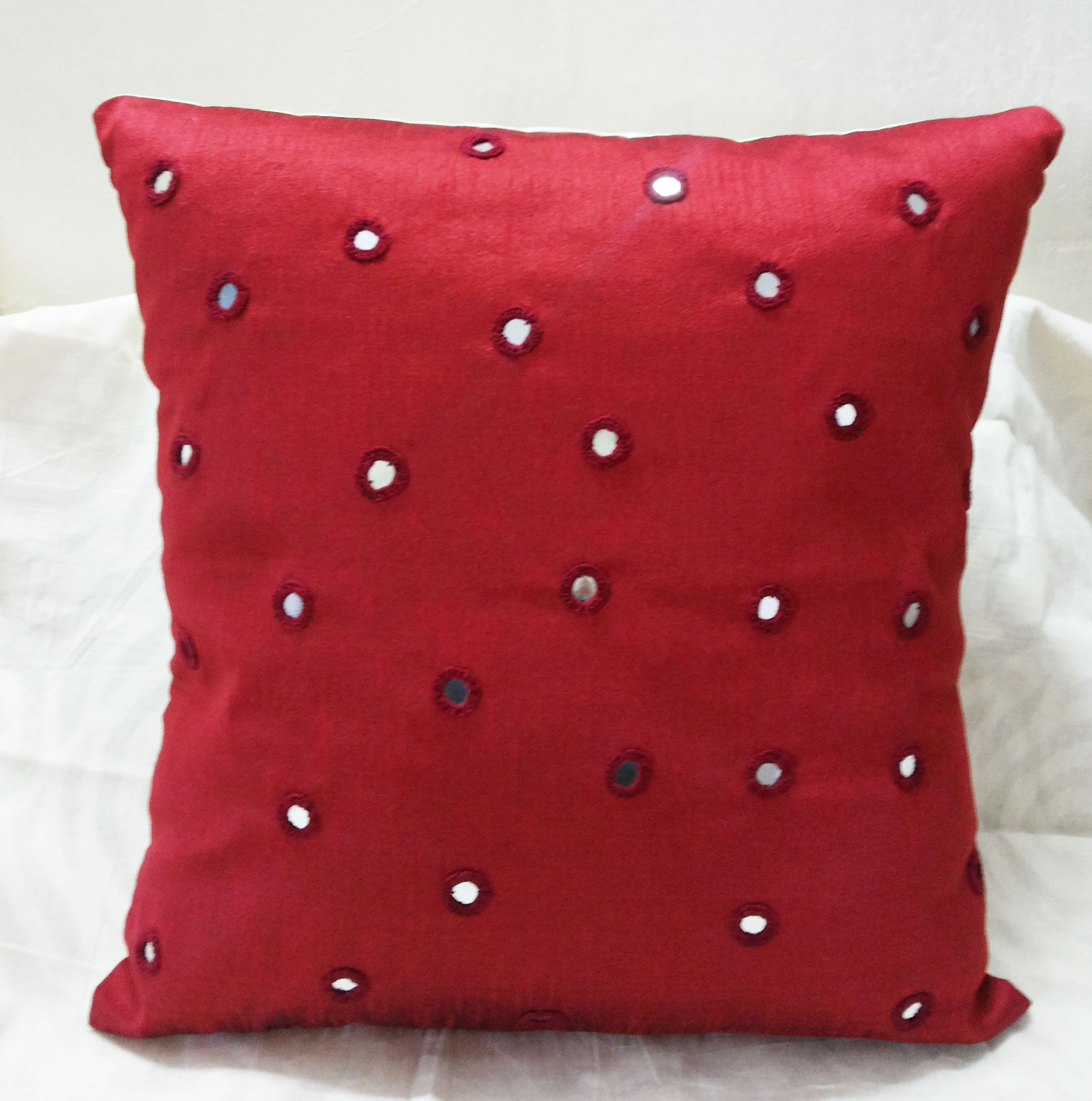 Decorative Red Throw Pillows Cover