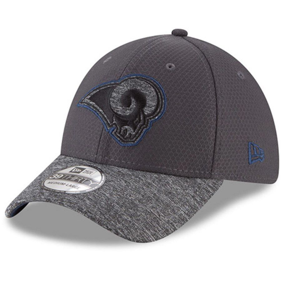 Men s Los Angeles Rams New Era Graphite Heathered Gray Popped Shadow  39THIRTY Flex Hat 48e829b66fdb