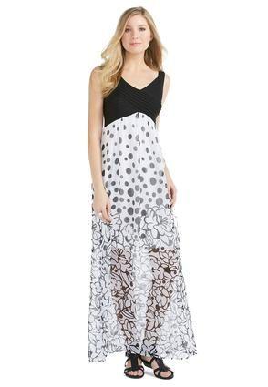 ebe72dcd73a Cato Fashions Sheer Sleeveless Floral Dot Maxi Dress - Plus  CatoFashions