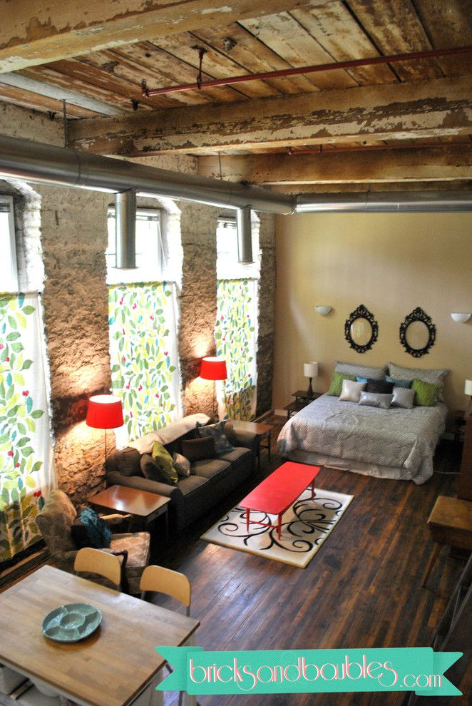 Studio Loft - eclectic - living room - atlanta - Bricks ...