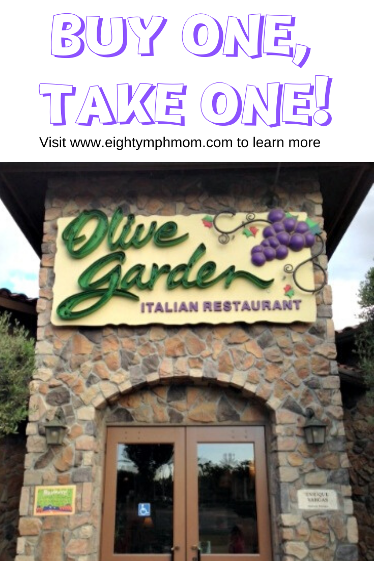 The Olive Garden Buy One Take One deal has quite