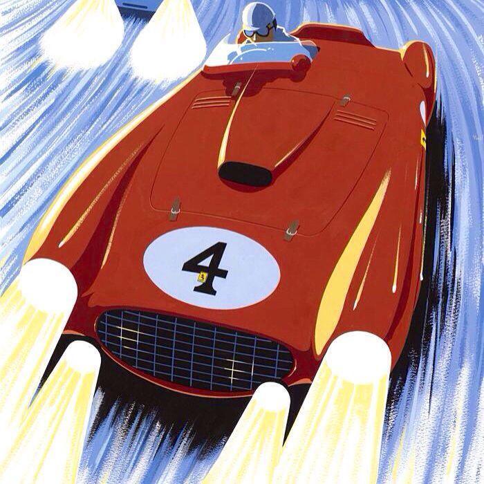 Gonzalez, Ferrari 375 Plus, Le Mans 1954 (Charles Alvarez)...