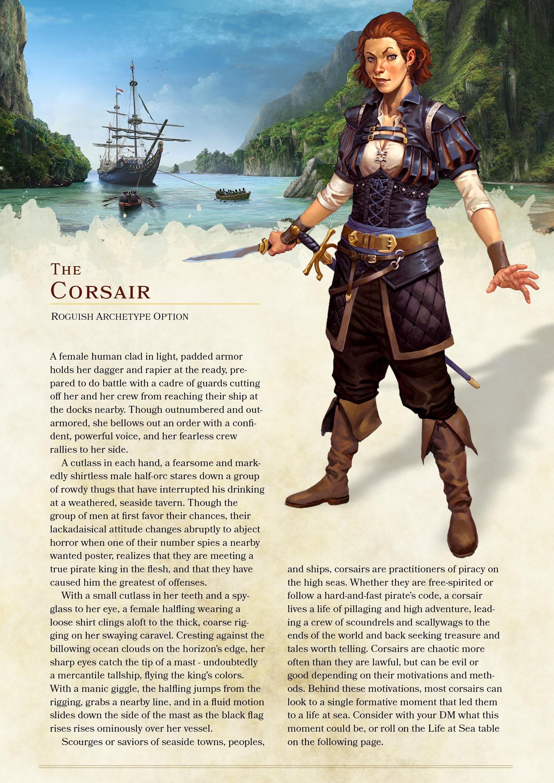 The Corsair: Rogue Archetype | dnd in 2019 | Dnd 5e homebrew