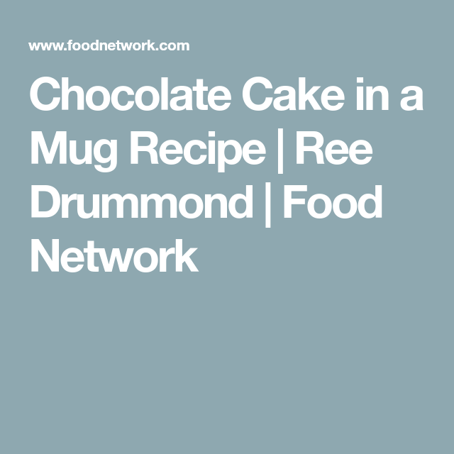 Chocolate Cake in a Mug | Recipe in 2020 (With images ...