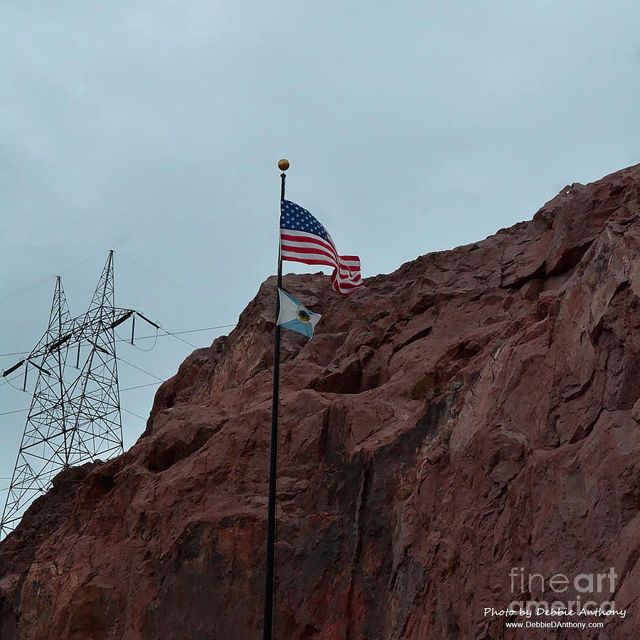 Hoover Dam Memorial Flags By Debbie D Anthony In 2020 Memorial Flag Hoover Dam Dam