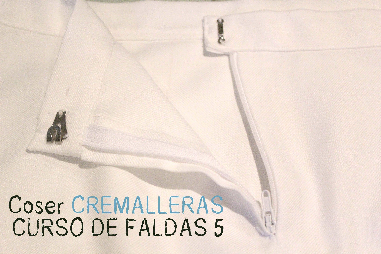 CURSO. Aprender a coser faldas parte 5: Coser cremalleras. | costura ...