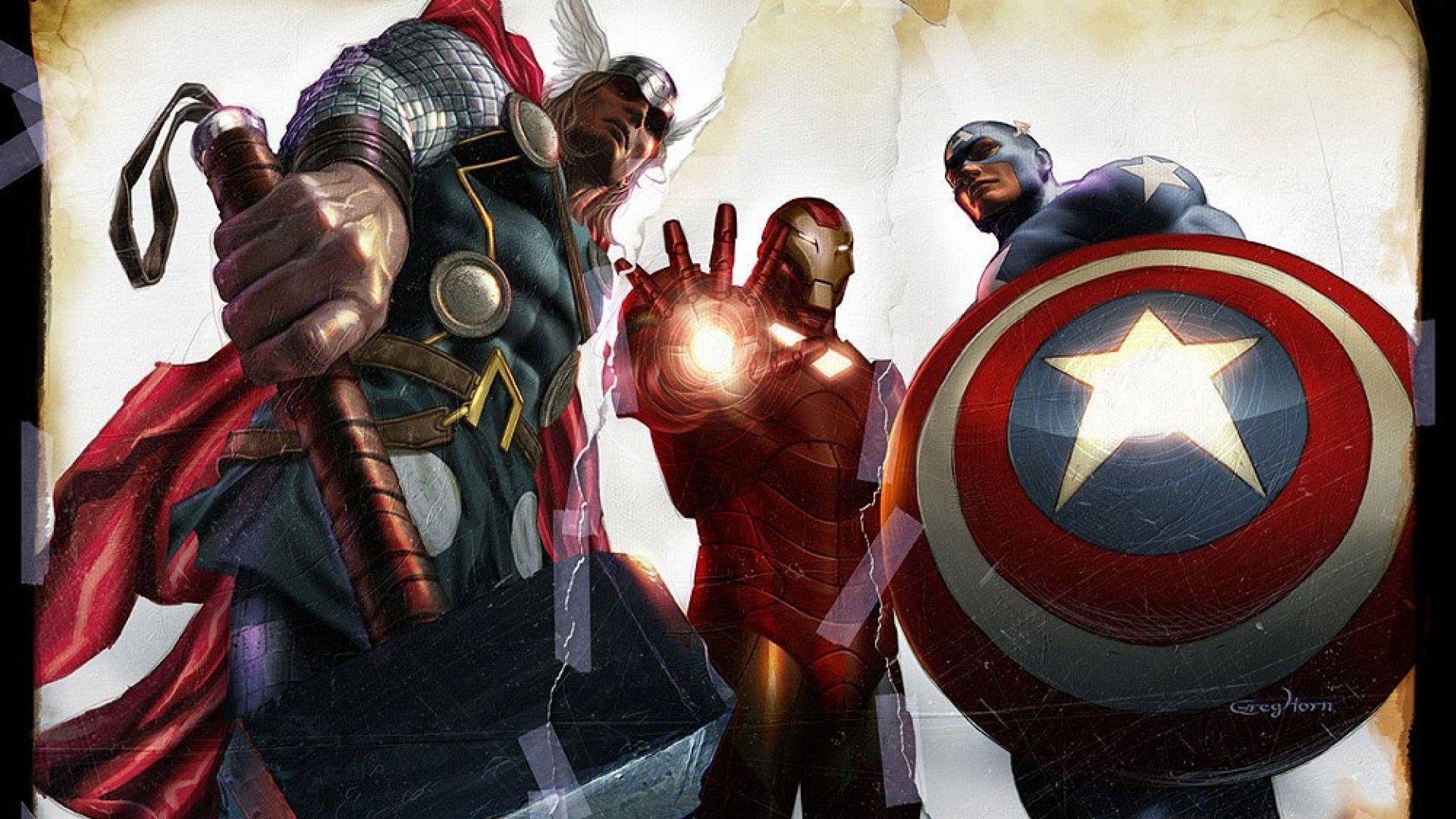 The Avengers Comic Wallpaper Mobile Wallpaper for Desktop
