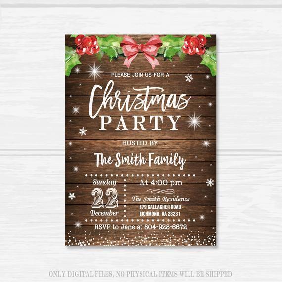 Invito di Natale, invito festa di Natale, invito a cena di