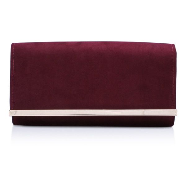 Carvela Kurt Geiger Dylan 2 Wine Clutch Bag 71 Aud Liked On Polyvore Featuring Bags Handbags Clutches Handbag
