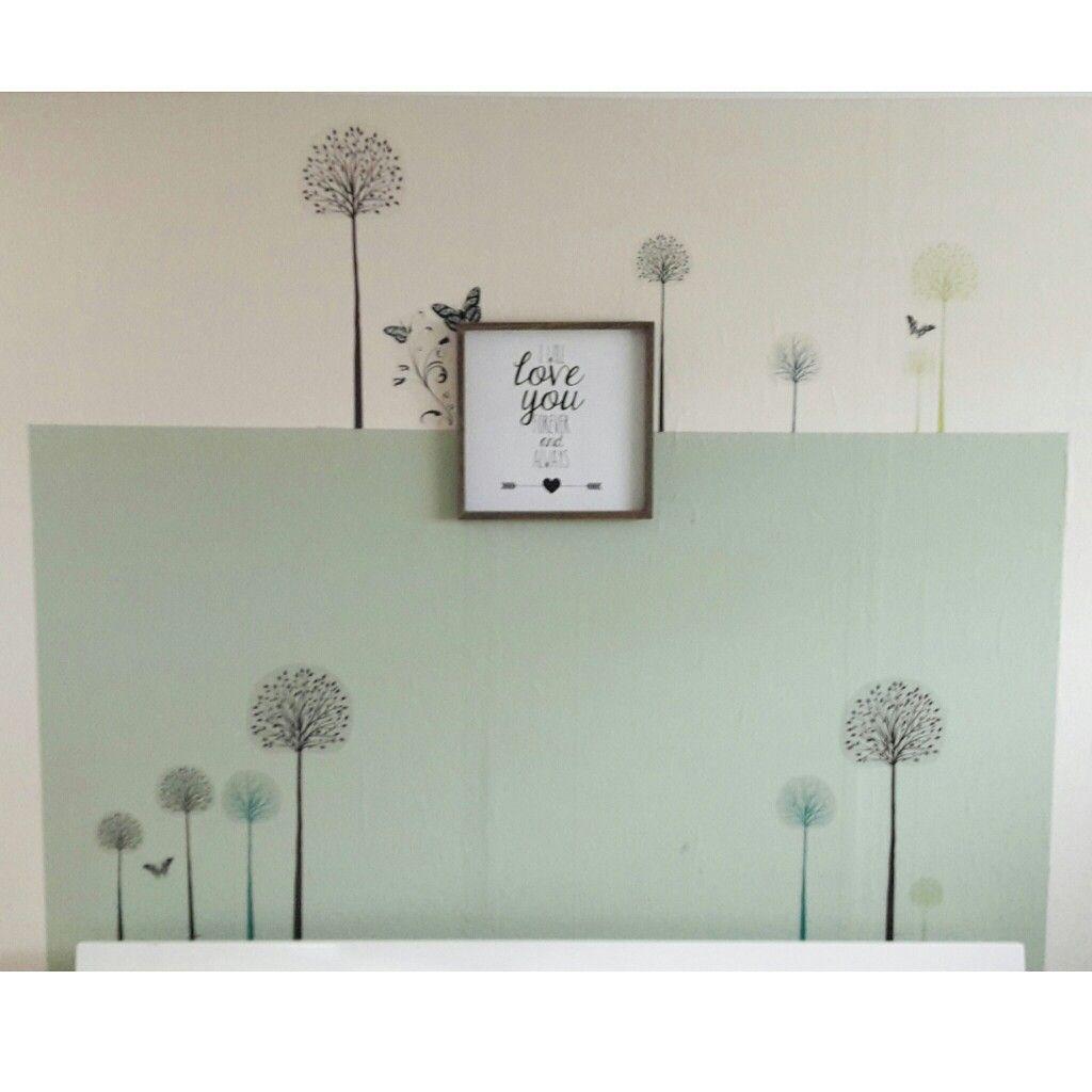 muurstickers van lidl fleuren de slaapkamer op schilderij