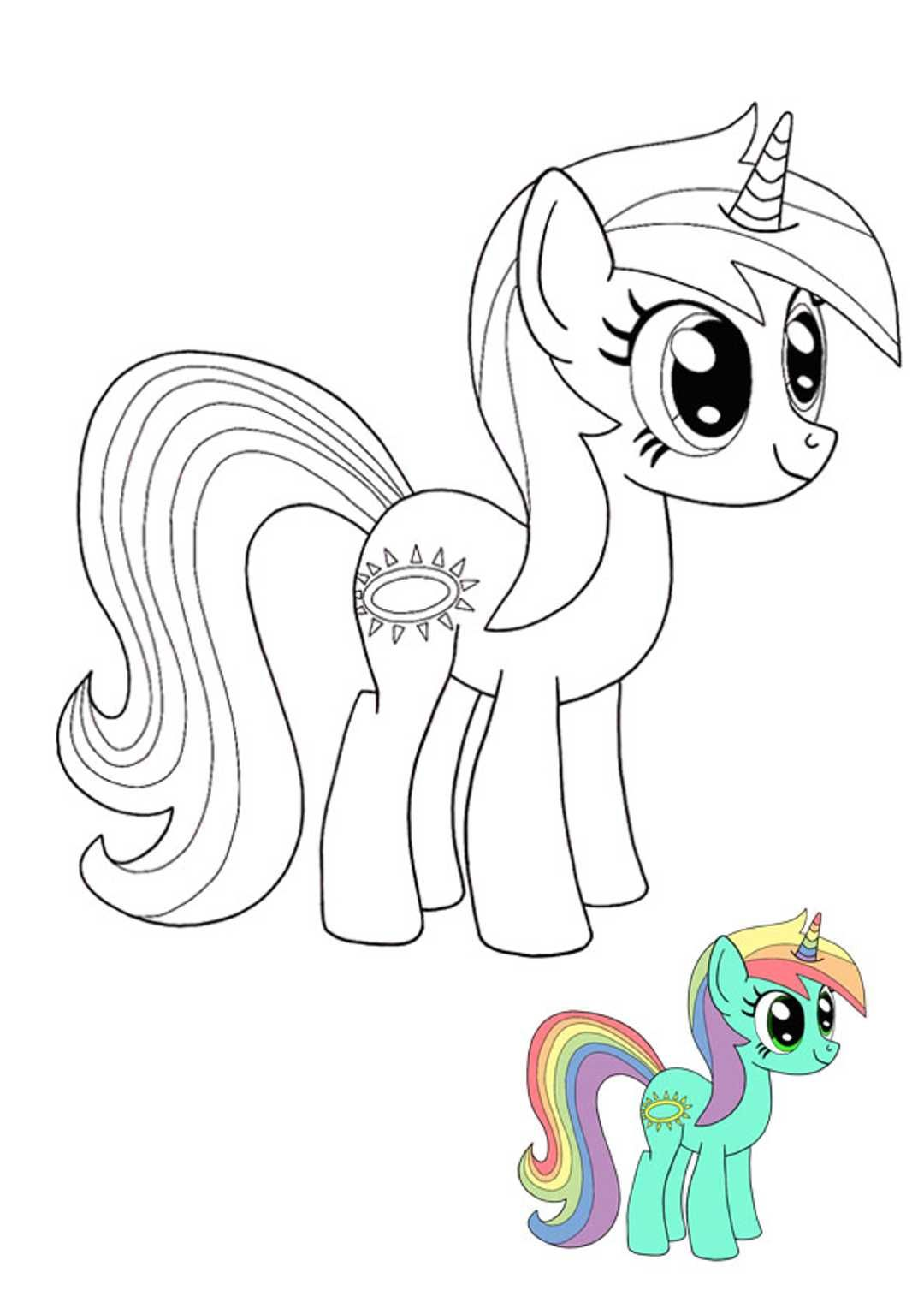 My Little Pony Unicorn Coloring Pages My Little Pony Coloring Unicorn Coloring Pages Mermaid Coloring Pages