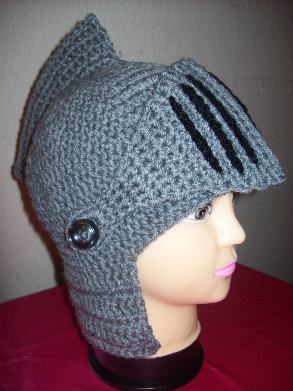 Crochet Knight\'s Helmet Hat by robabella on Etsy, $44.95   Crochet ...