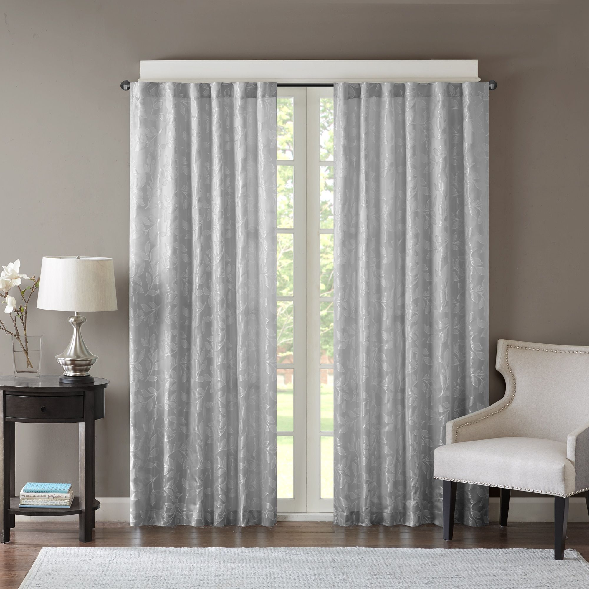Madison park pearl jacquard window curtain panel color option