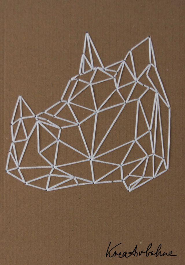 Wanddekoration selber machen anleitung  Wanddeko Nashorn sticken | Geometry | Pinterest | Nashorn ...