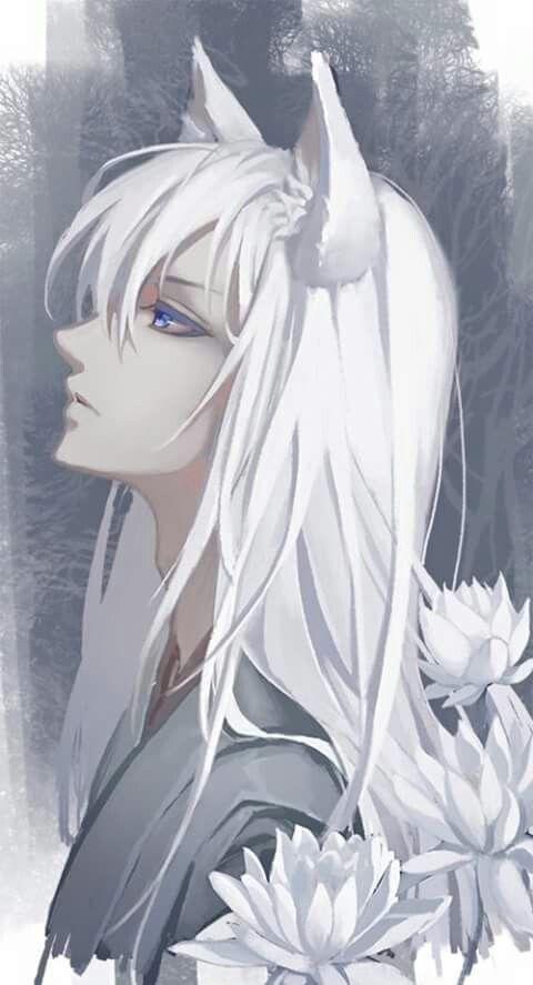 Anime Boy With Long White Hair And Blue Eyes Tomoe Kamisama Hajimemashite Kamisama Kiss Anime Characters Tomoe